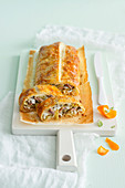 Artichoke and mozzarella strudel
