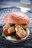 Po Boy sandwich with oysters (USA)