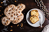 Colomba Pasquale (Easter cake shaped like a dove of peace, Italy)