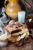 Hefezopf mit Kakao und Vanille