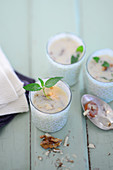 Walnut soup with dates and fenugreek