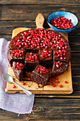 Miller brownie with pomegranate (cake without sugar and flour)
