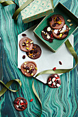 Chocolate florentines for gifting at Christmas