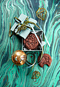Chocolatechip Cookies als Weihnachtsgeschenk