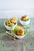 Carrot balls with feta cheese