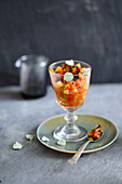 Ratatouille in a stemmed glass