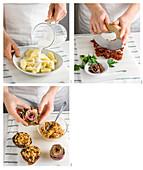 Artischocken mit Brot-Tomaten-Füllung zubereiten