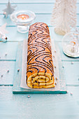 A Hungarian festive Swiss roll