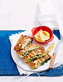 Pea and Silverbeet Pan Toasties