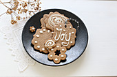 Iced gluten-free honey Christmas biscuits