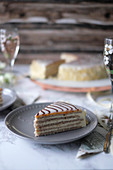 A slice of Esterhazy cake