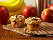 Almond muffins with berries