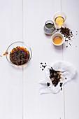 Zutaten für Coffee Shrub Spritzer mit Aceto balsamico