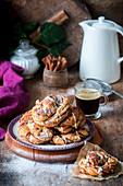 Cinnamon swirls with white chocolate