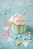 Marshmallow-Cupcake für eine Party