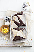 Lemon and ginger shortbread with dark chocolate
