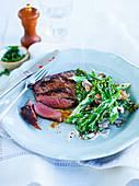Steak with broccolini