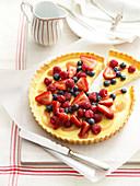 Berry Custard Flan