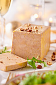 Goose liver pate with rocket and hazelnuts (Christmas)