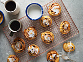 Freshly baked cinamon swirls