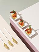 Shrimp canapés