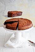 Quick chocolate tart with rum