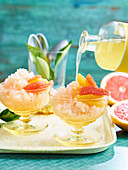 Grapefruit and limoncello granita