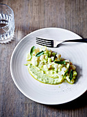 Mackerel tartare, pickled cucumber and creme-fraiche