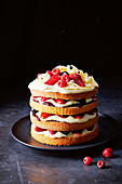 Lazy summer berry layer cake
