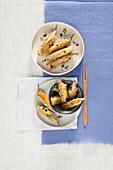 Fried sardines filled with Pecorino