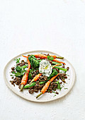 Carrot and lentil salad
