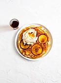 Apple Pancakes with cinnamon mascarpone