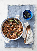 Lamb ragout with olives and rosemary