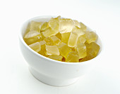 Candied lemon cubes