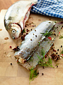 Whitefish with herbs and spices