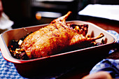Roast duck fresh out of the oven