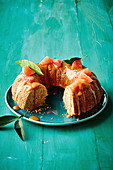 Ruby grapefruit and coconut bundt cake