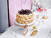 Schokoladen-Dattel-Torte mit Brandy zu Weihnachten