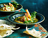 Lentil soup with Prawns