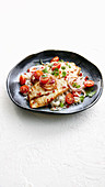 Snapper with tamarind dressing and coconut rice