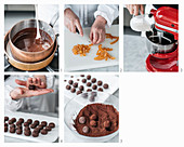 Chocolate-orange truffles being made