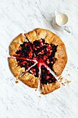 Homemade Blackberry and Apple Galette