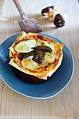 A mini lasagne with bay boletes