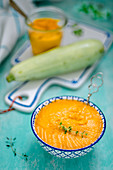 A pumpkin dip with thyme