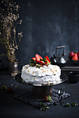 A vegan strawberry and cream cake