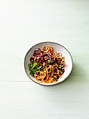 Carrot salad with beetroot and mint