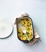 Oven-baked parsnip egg noodles