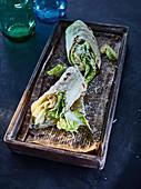 Tortilla wraps with Caesar salad