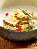 Ravioli vom korsischen Schafskäse mit Fenchel und Pinienkernen