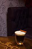 Coffee and cinnamon cocktail